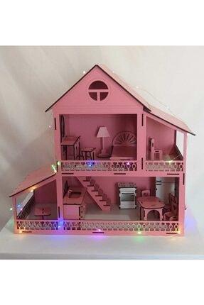 EDKZEKA -led Işıklı Ahşap Oyun Evi-(42cmx40cmx18cm) -ev2