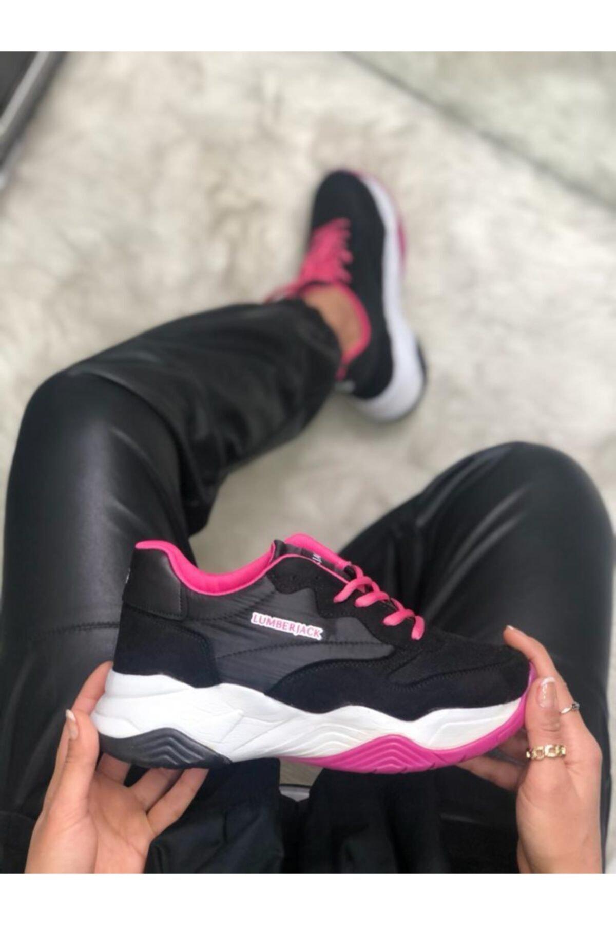 lumberjack Ecık Siyah Kalın Taban Kadın Sneaker Ayakkabı 1