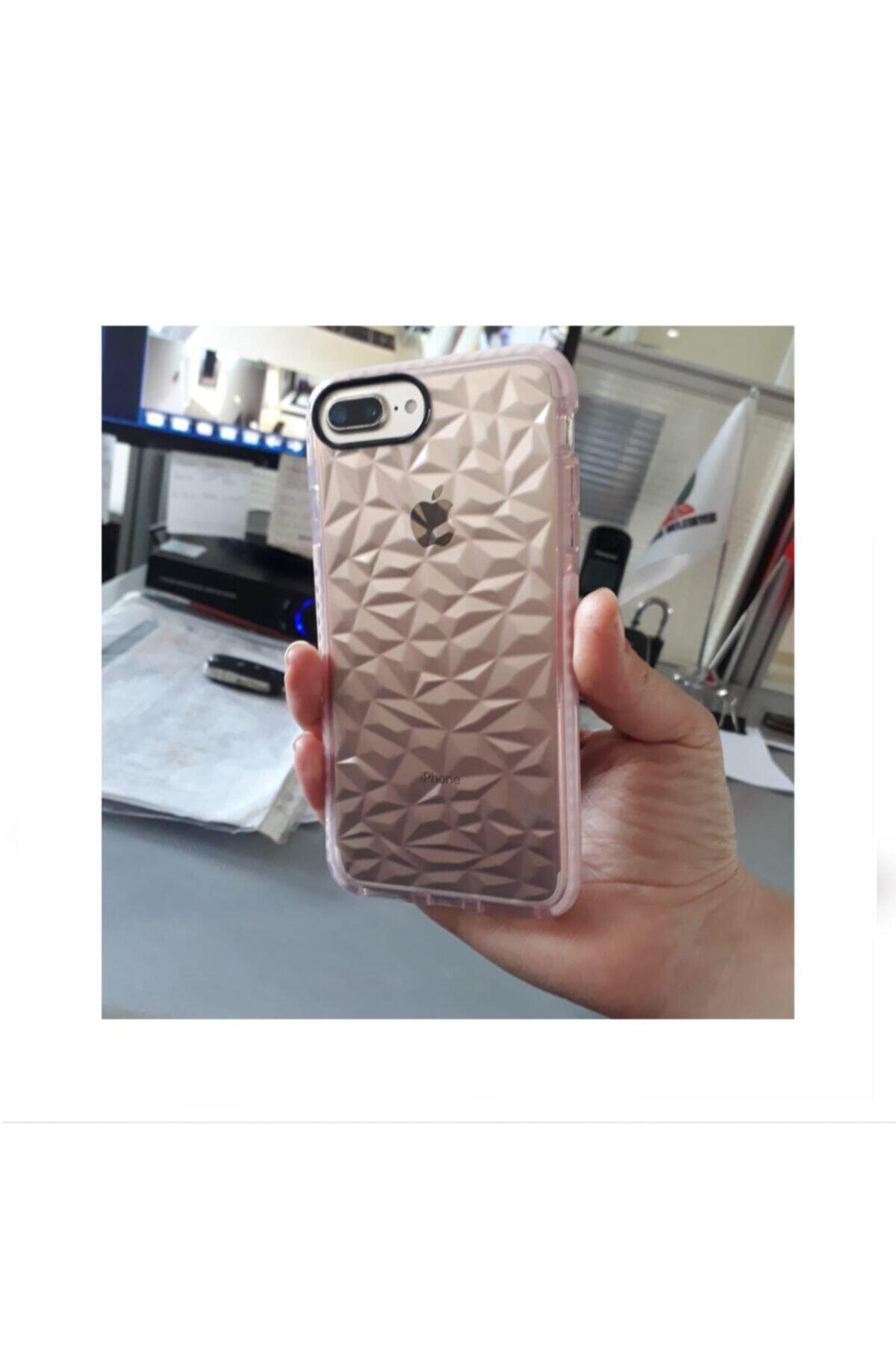 Kılıfsiparis Iphone 7 Plus / 8 Plus Uyumlu Pembe Renkli Darbe Önleyici Silikon Kılıf 2