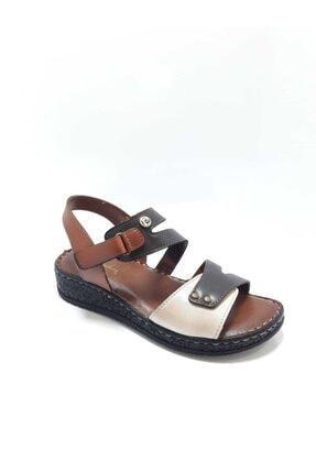 Pierre Cardin Kadın Kahverengi Kısa Topuklu Sandalet