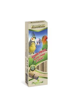 EuroGold Kuşlar Için Kumlu Tünek 4'lü