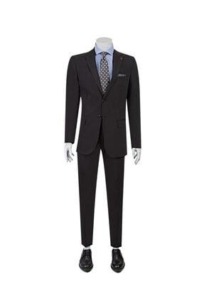 D'S Damat Erkek Siyah Düz Takım Elbise