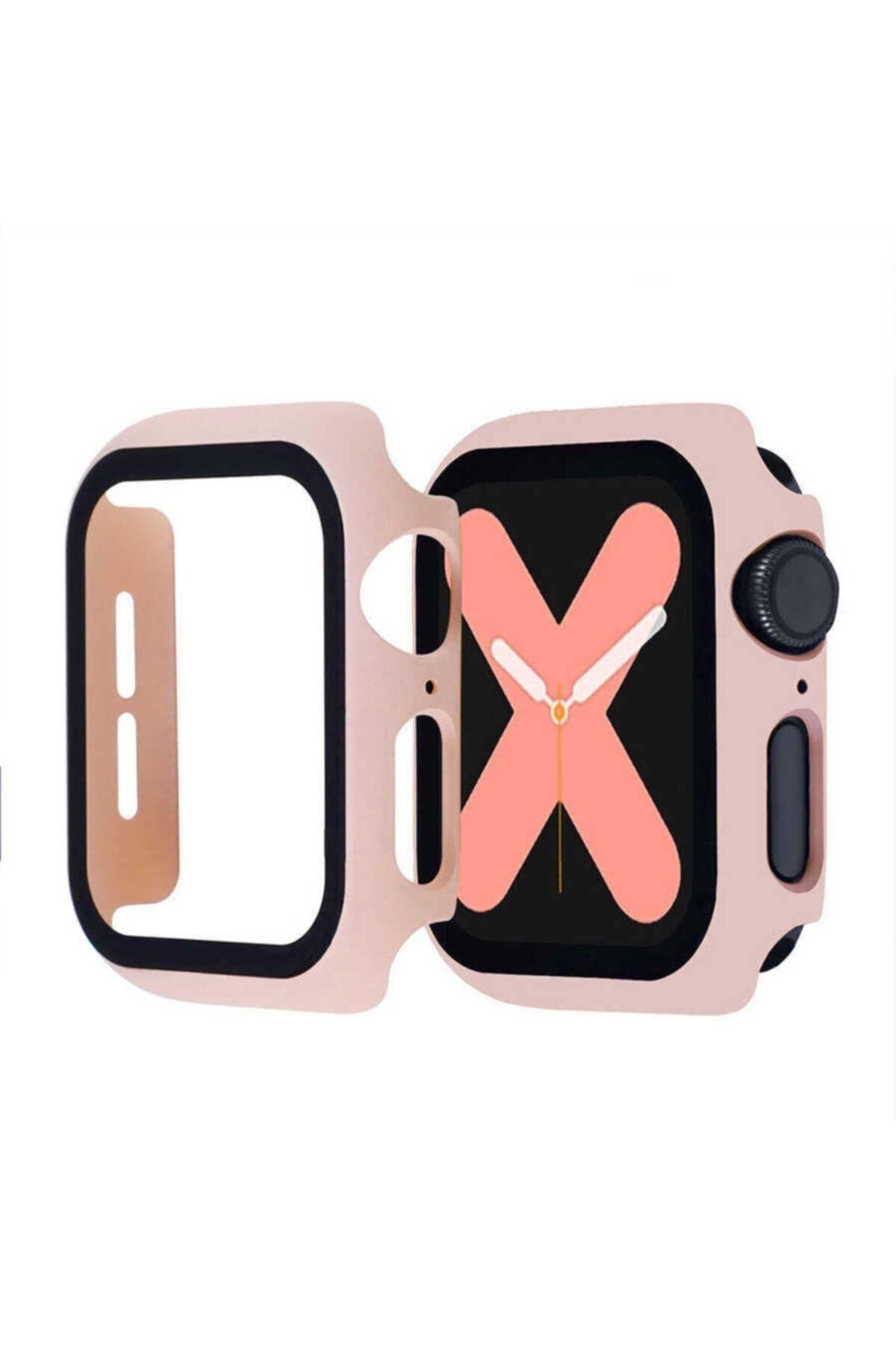 KVK PRİVACY Apple Watch Pembe Uyumlu Silikon Kılıf 42mm 1