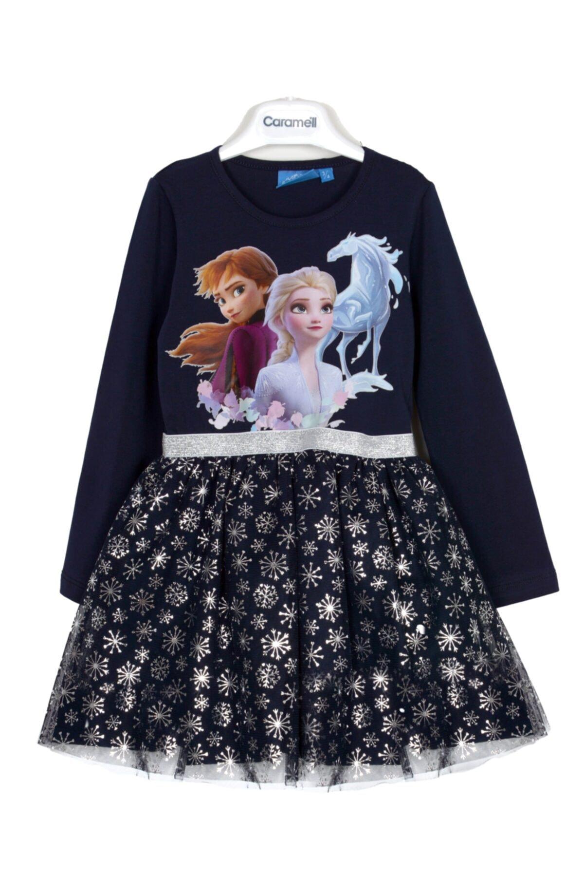 Frozen Elsa Elsa Kız Çocuk Elbise 1