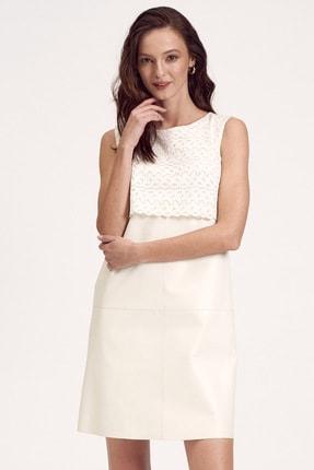 Desa Dantel Detaylı Deri Kadın Elbise