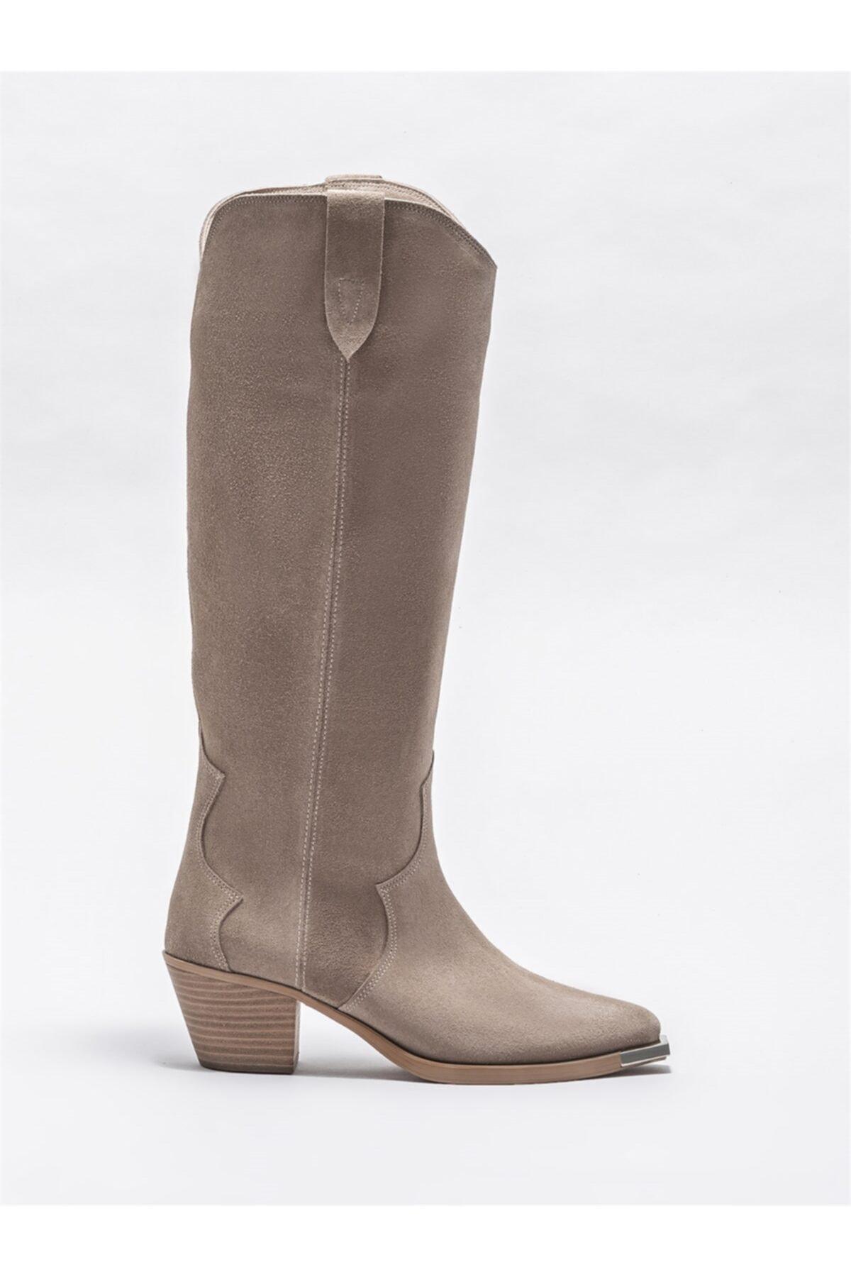 Elle Shoes Kadın Bej Günlük Çizme 1