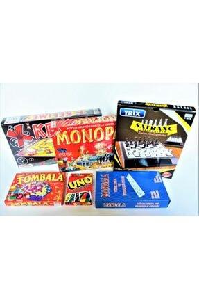 ibis oyuncak Monopara Satranç Uno Mangala Tombala Kelime Oyunu 6'lı Kutu Oyunu Set