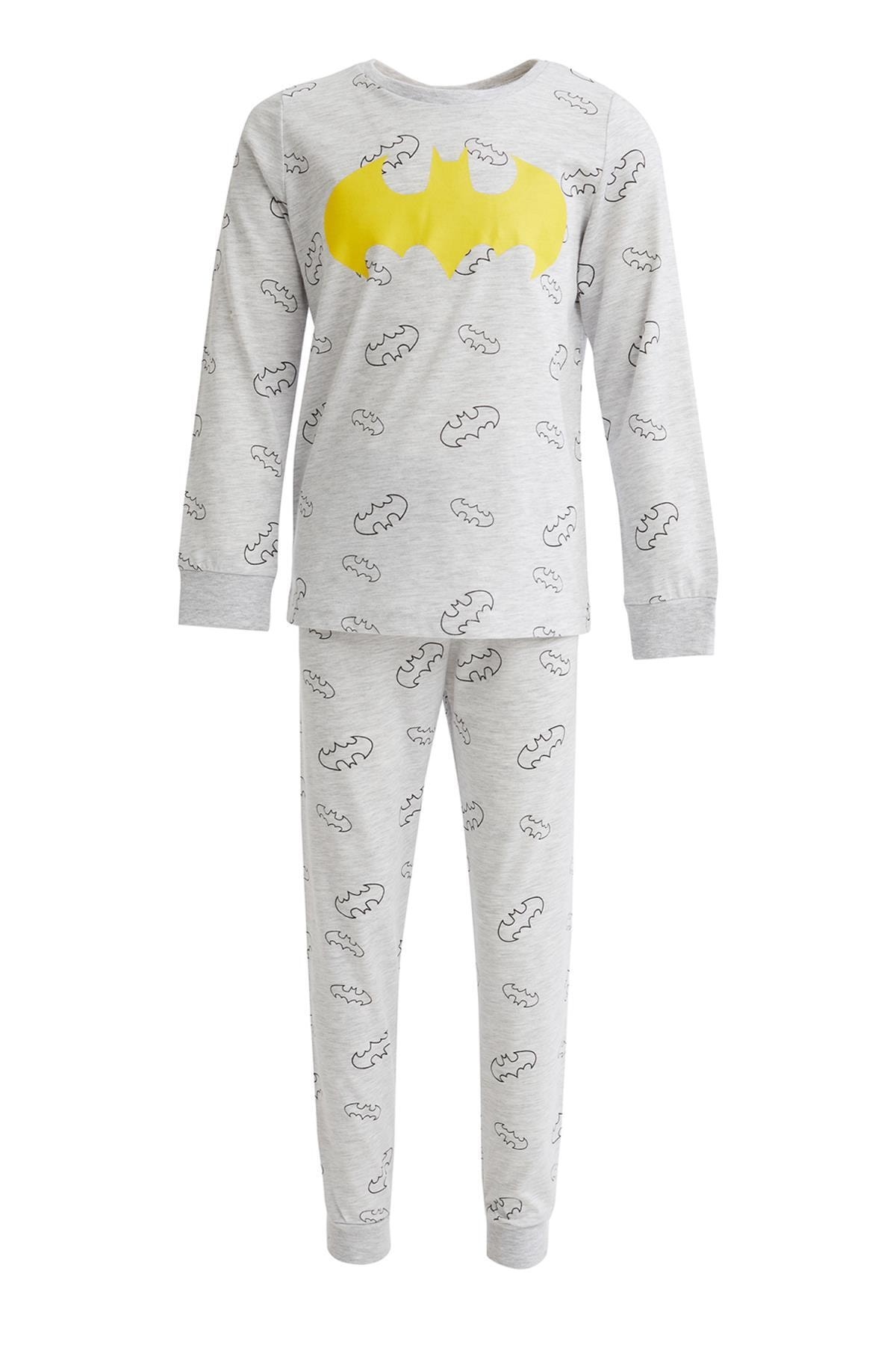 DeFacto Erkek Çocuk Gri Batman Lisanslı Pijama Takımı