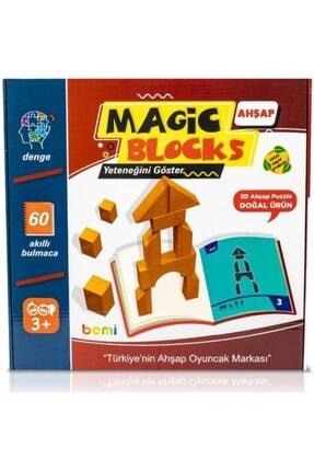 BEMİ Lüks Sağlıklı Ahşap Magic Blocks