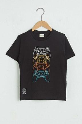 LC Waikiki Erkek Çocuk Yeni Siyah Cvl T-Shirt