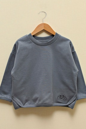 LC Waikiki Erkek Bebek Koyu Gri Gys Sweatshirt