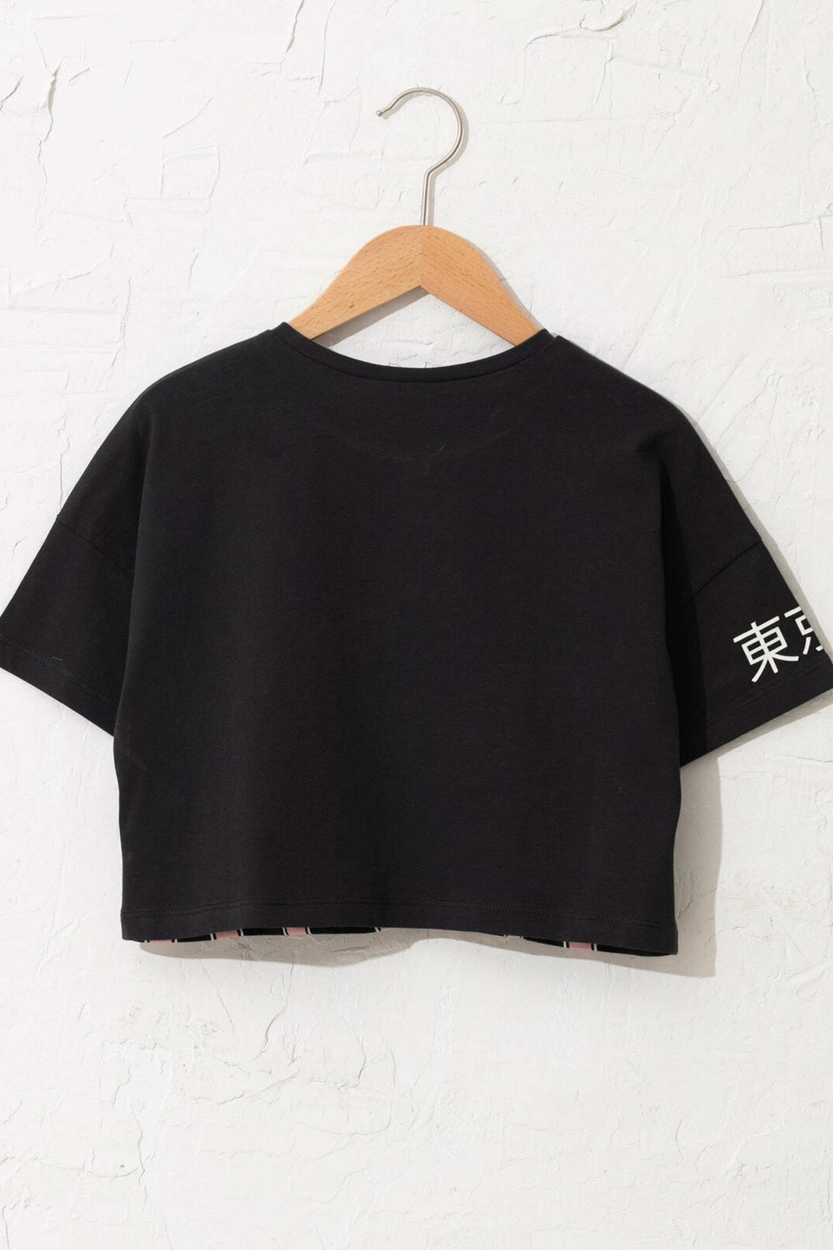 LC Waikiki Kız Çocuk Antrasit Hpl T-Shirt 2