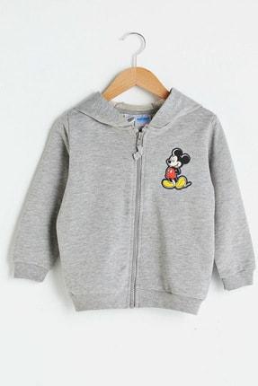 LC Waikiki Mickey Mouse Erkek Bebek Gri Melanj D5P Hırka