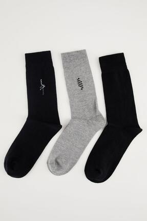 DeFacto 3'lü Basic Dikişsiz Soket Çorap