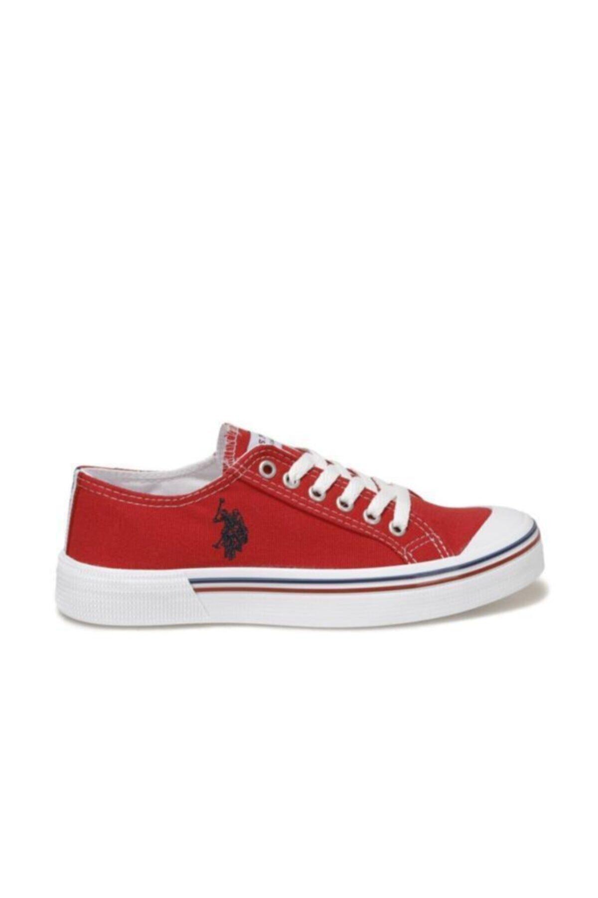 U.S. Polo Assn. Kadın Kırmızı Keten Ayakkabı 2