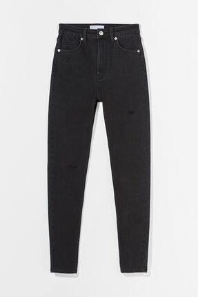 Bershka Kadın Siyah Süper Yüksek Bel Jean