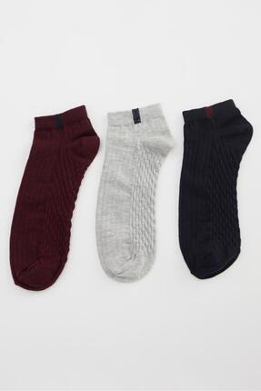 DeFacto Erkek Karma 3'lü Patik Çorap