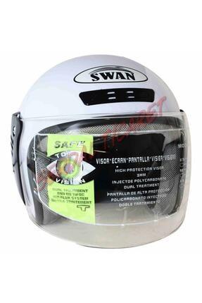 SWAG Çenesiz Yazlık Motosiklet Kask Swan