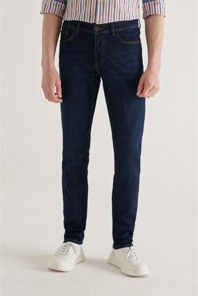 Avva Erkek Lacivert Slim Fit Jean Pantolon A11y3560