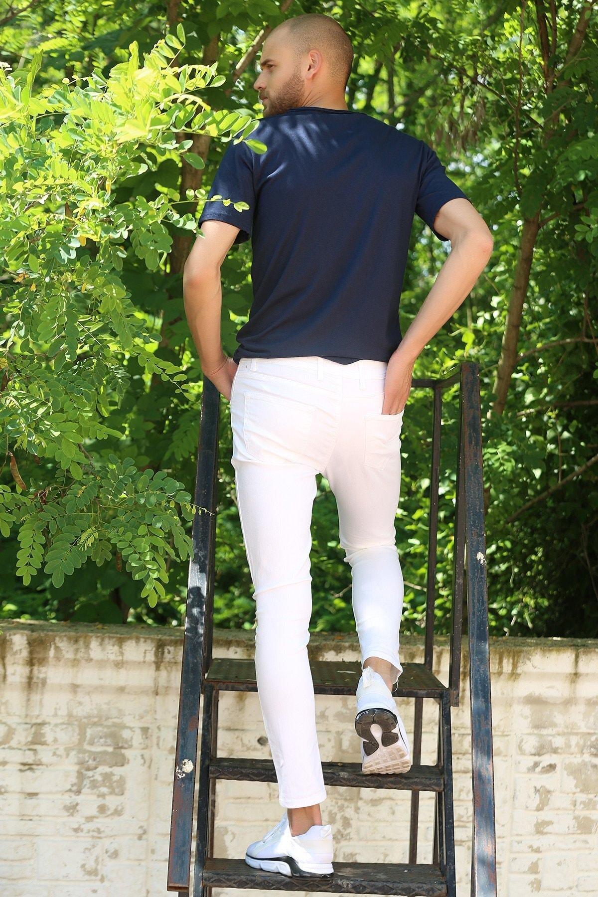 julude Erkek Slim Jean Pantolon 2