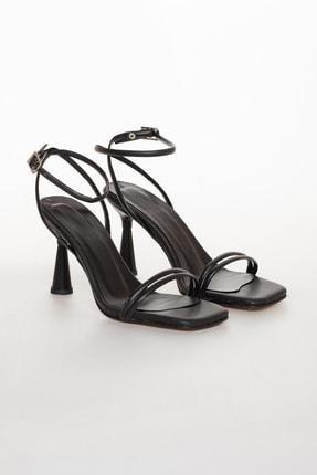 Mitto Kadın Siyah Yazlık Topuklu Ayakkabı