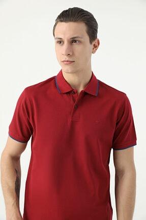 D'S Damat Erkek Bordo Merserize T-Shirt