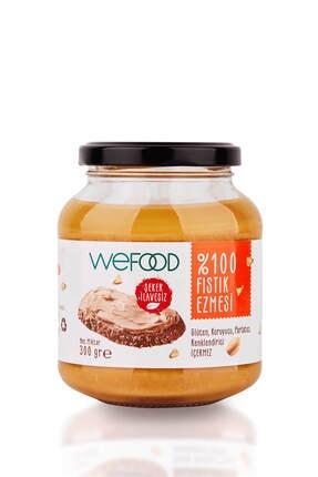 Wefood Şekersiz Sade %100 Fıstık Ezmesi 300 gr (Fıstık Parçacıklı)