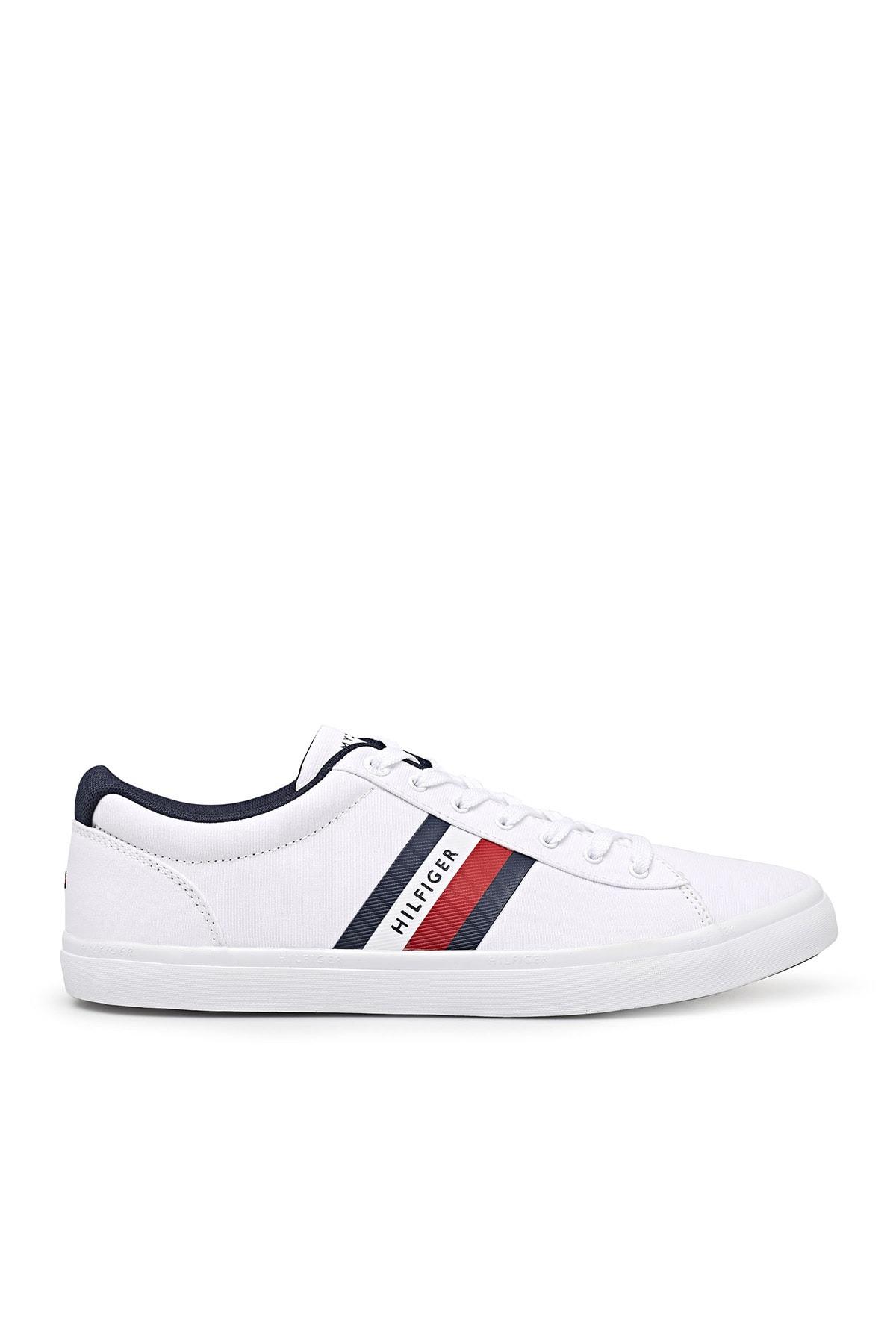 Tommy Hilfiger Erkek Beyaz Sneaker Ayakkabı Fm0fm03389 Ybr 1