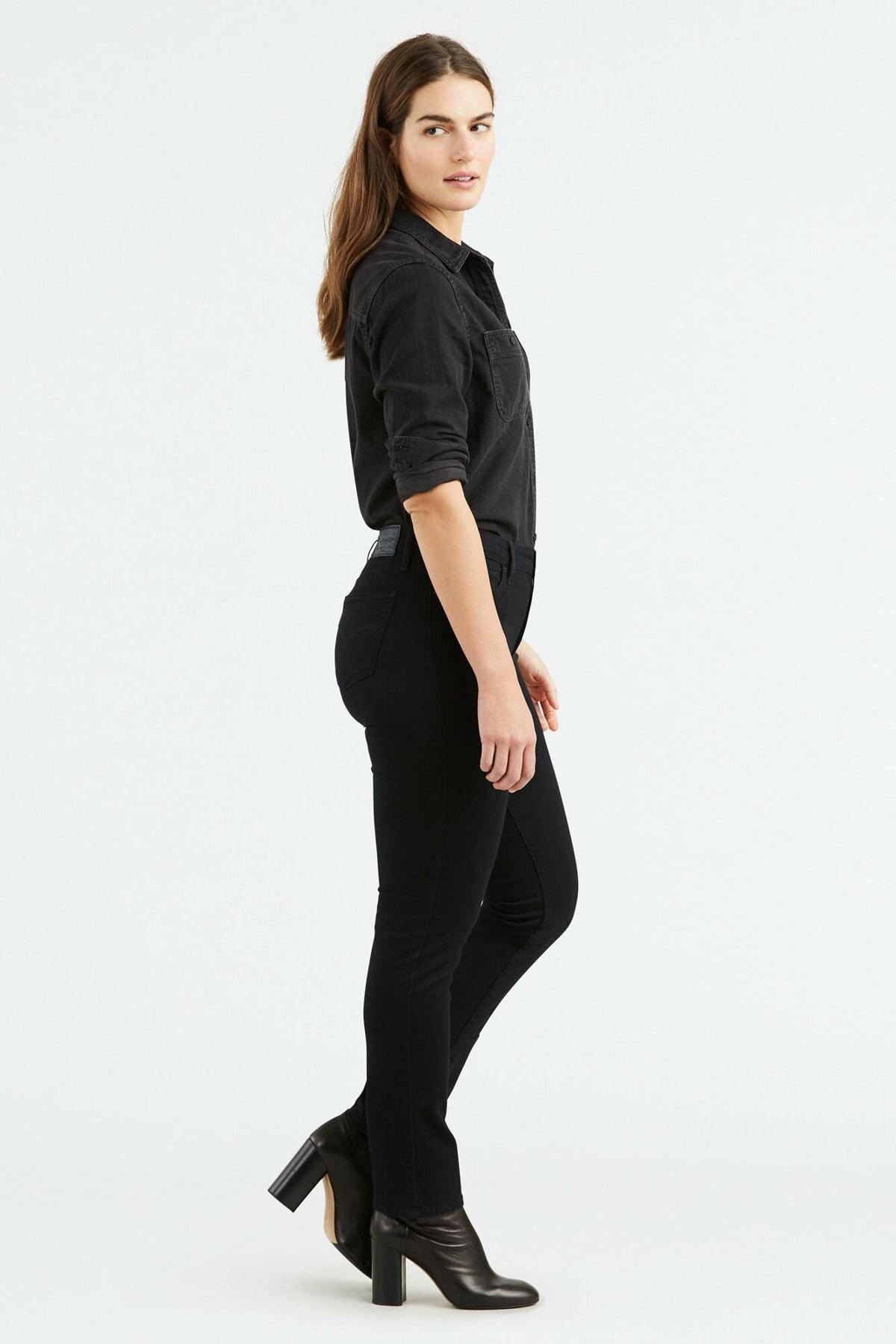 Levi's Kadın Siyah 712 Slim Jean 18884-0001 2