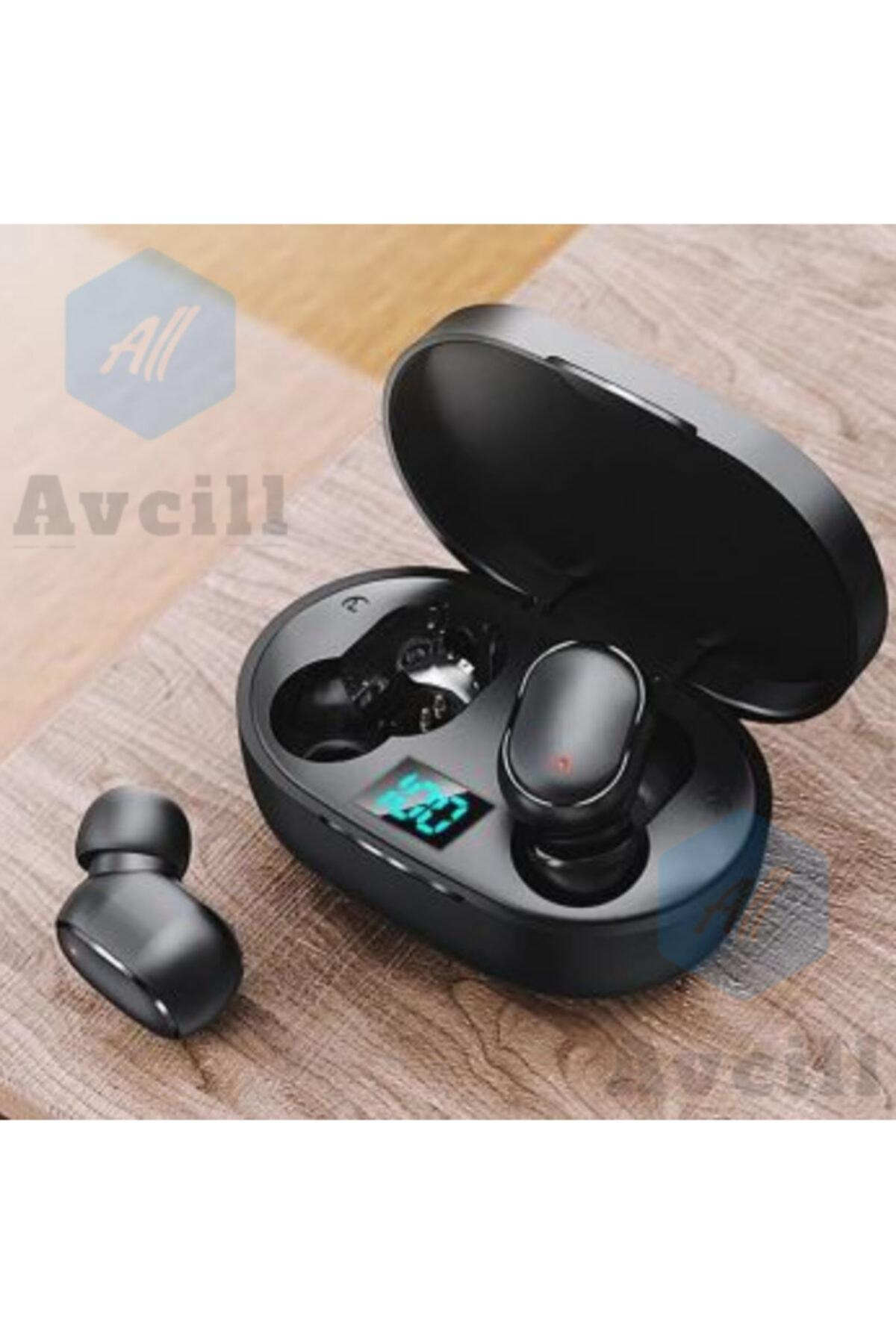 Avcill Bluetooth Kulaklık Mikrofonlu Kablosuz E6s Xiaomi Iphone Samsung Uyumlu Kulak Içi Telefon Kulaklığı 2