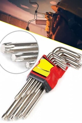 Chermik Eltos Jaws 9 Parça Tork Çelik Alyan Anahtarı 120 Mm Yıldız Allen Set 1410