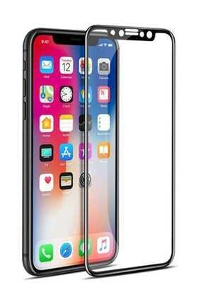 S-LINK iPhone X Darbeye Dayanıklı 2D Temperli Cam Ekran Koruyucu Siyah