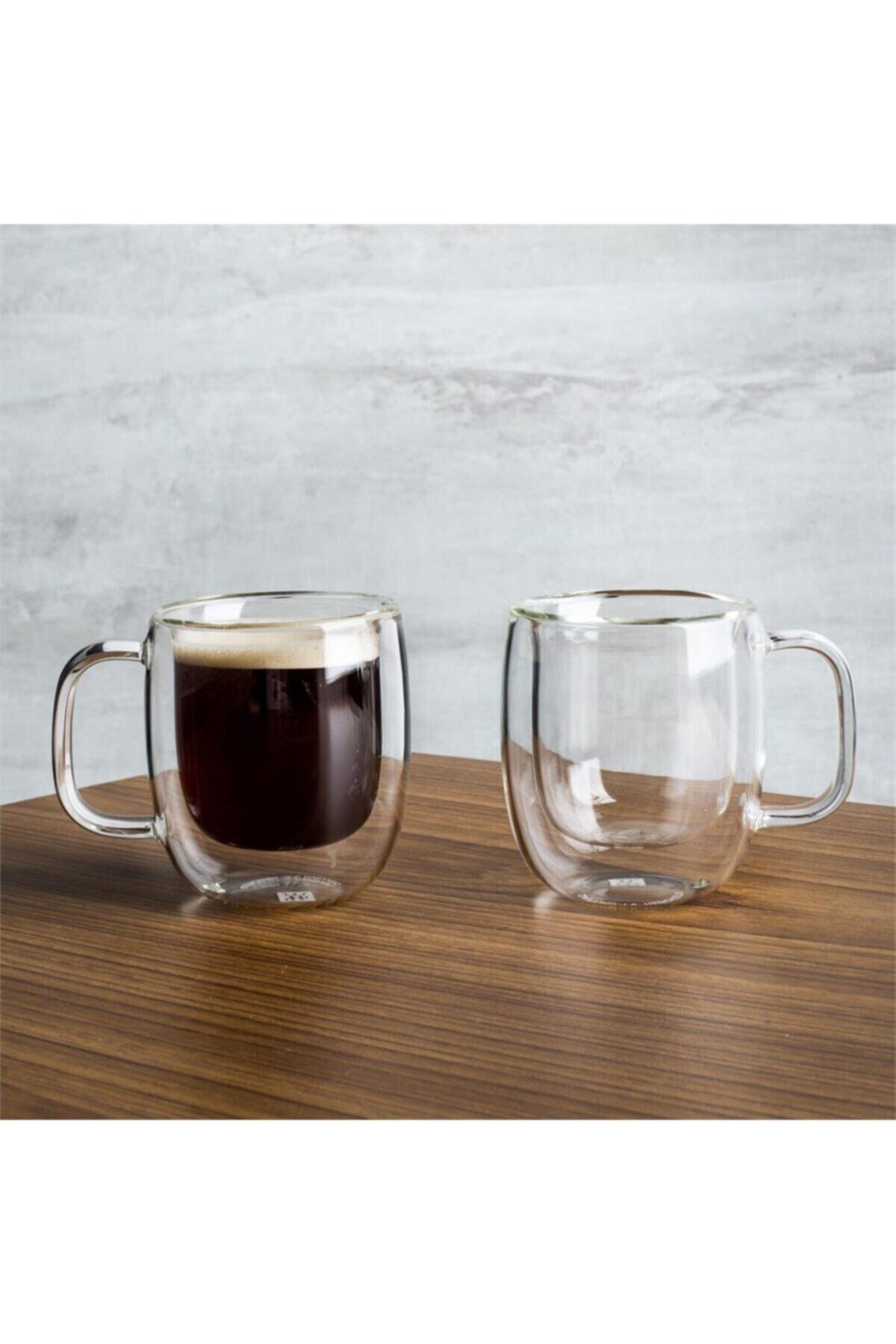 ZWILLING Beyaz 395001110 Çift Camlı Kulplu Espresso 2li Bardak 2