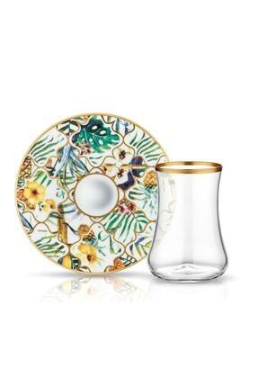 Koleksiyon1 Dervish Amazon Brasil Tabak 6'lı Çay Bardağı Seti