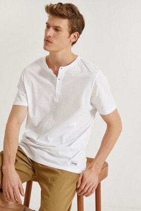 Koton Erkek Beyaz T-Shirt 1YAM12139OK