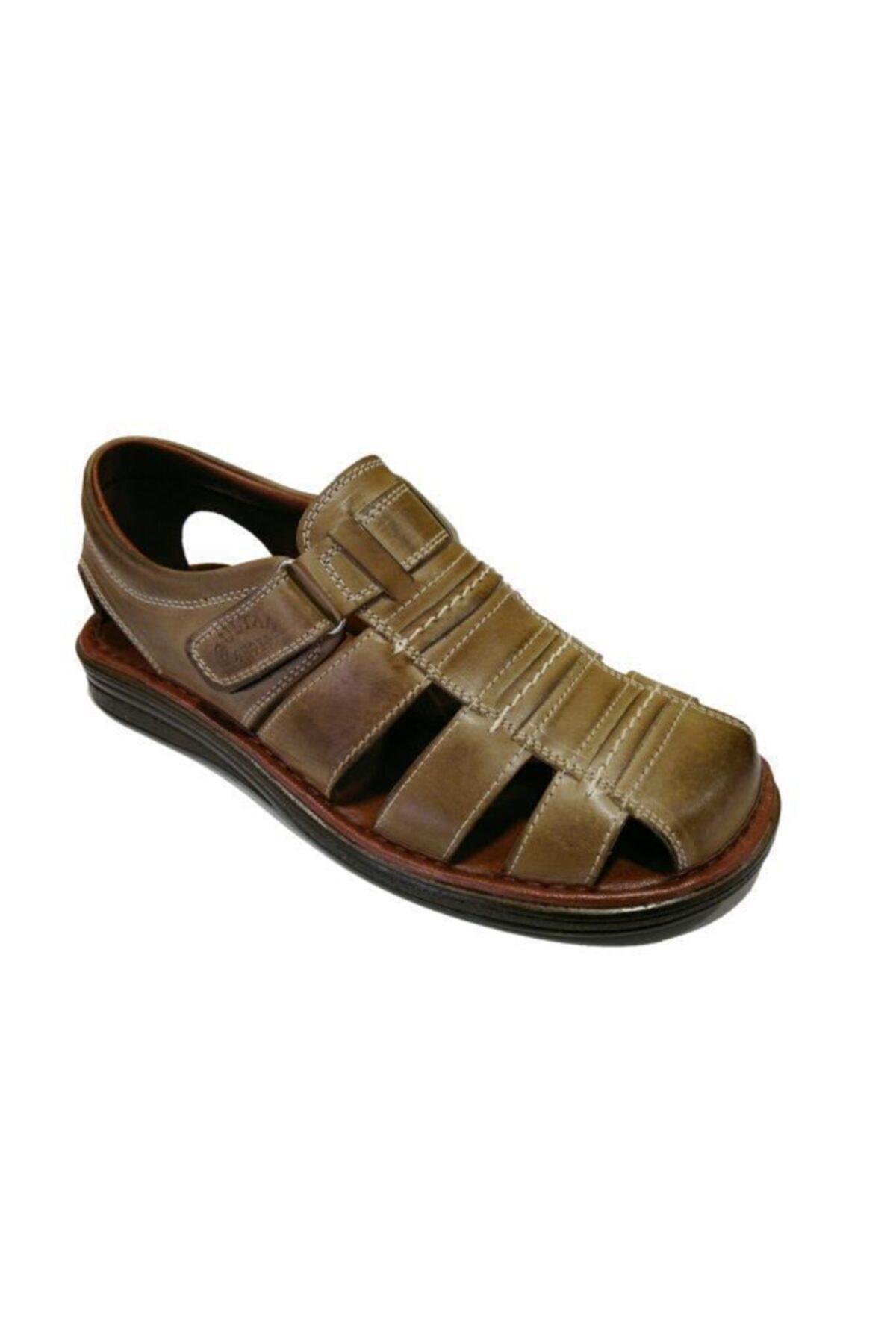 Sultan 212 Hakiki Deri Erkek Sandalet 1