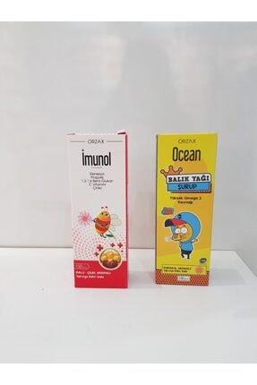 Orzax Imunol Şurup 150 Ml+ocean Portakal Aromalı Balık Yağı Şurup 150ml Şifadepocum Sınav Seti