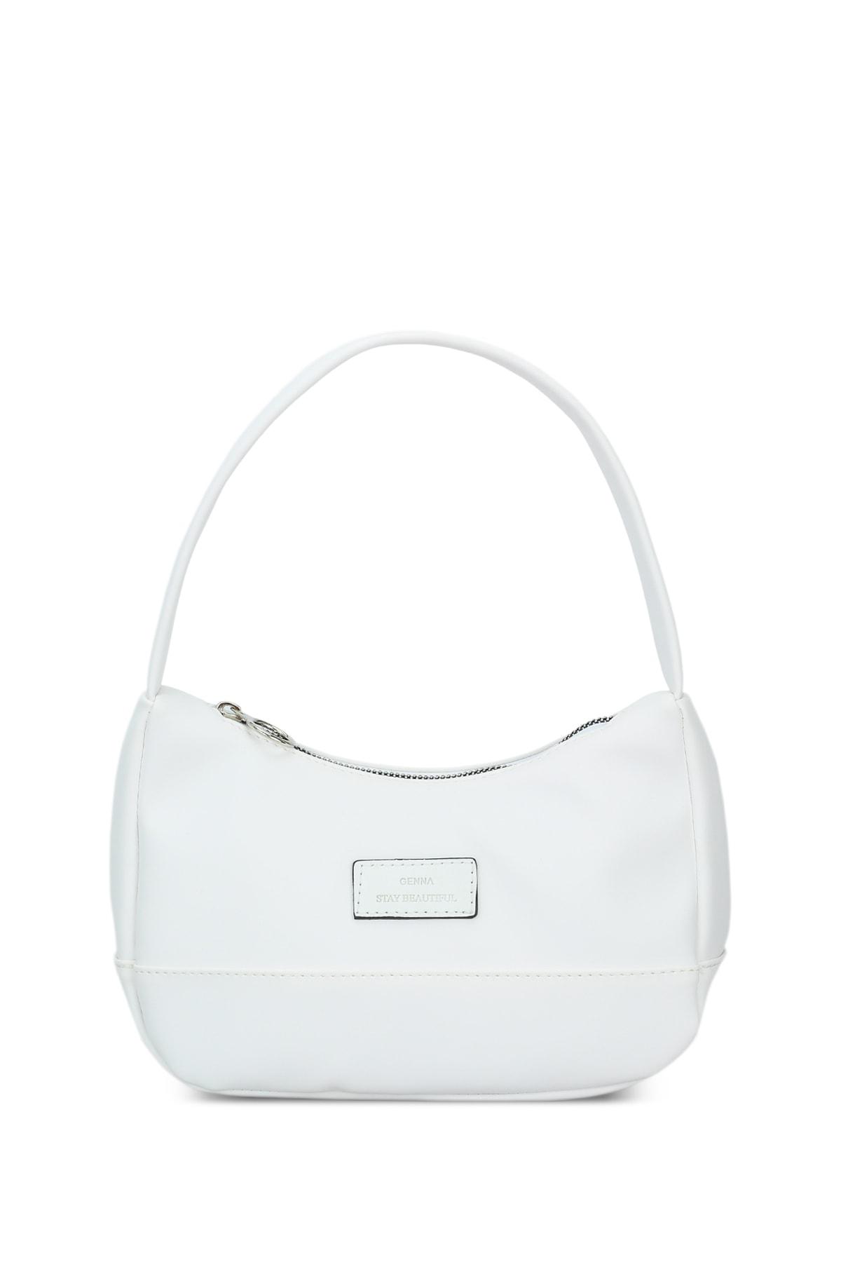 Housebags Kadın Beyaz Baguette Çanta 197 1