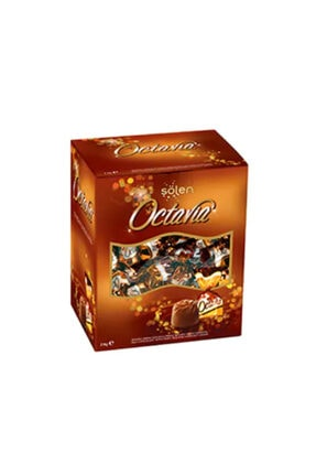 Şölen Octavia Fındıklı Krema Dolgulu Pirinç Patlaklı Sütlü Çikolata 2 Kg