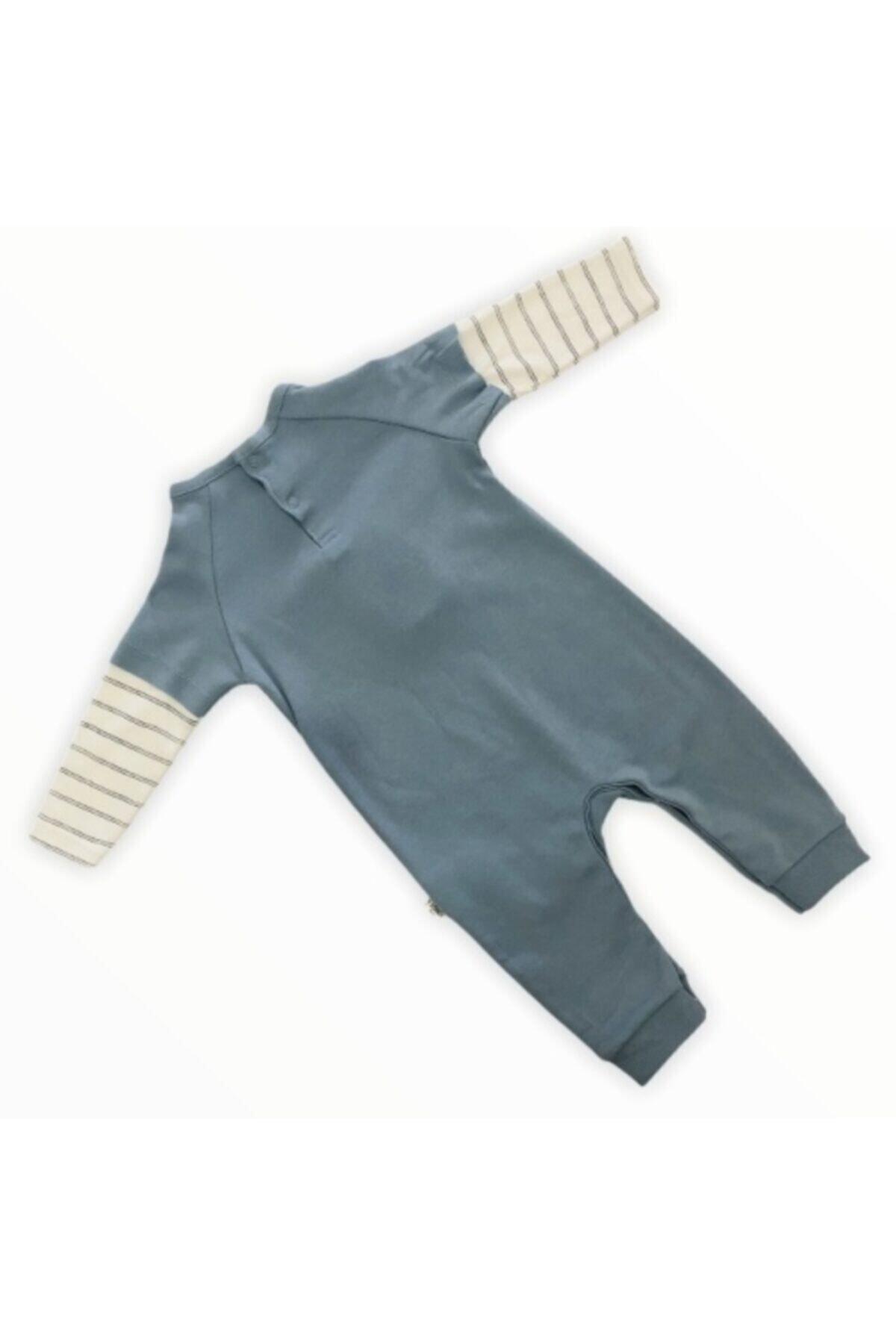 Tongs Baby Unisex Bebek Mavi Baykuşlu Tulum 2