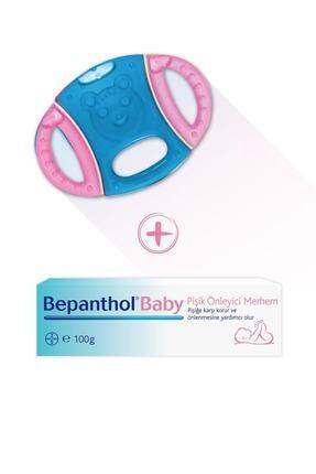 Bepanthol Baby Pişik Merhemi 100gr + Fisher Price Pembe-Mavi Diş Kaşıyıcı