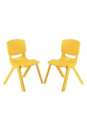 Fiore Büyük Şirin Çocuk Sandalyesi Sarı 2li Paket 3-7 Yaş İçin