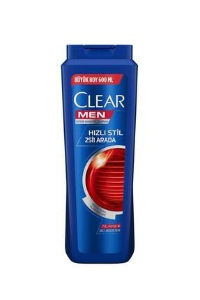 Clear Men Hızlı Stil 2si1 Arada Şampuan 600 ml
