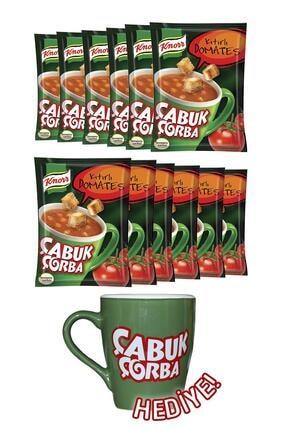 Knorr Çabuk Çorba Kıtırlı Domates X 12 + Porselen Kupa Hediyeli