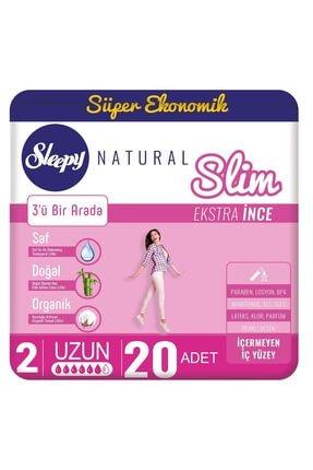 Sleepy Natural Slim Ekstra Ince Uzun 20 Ped