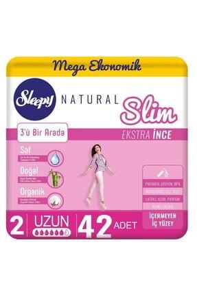 Sleepy Natural Slim Ekstra İnce Uzun 42 Ped