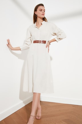 TRENDYOLMİLLA Taş Kemerli Elbise TWOSS21EL0260