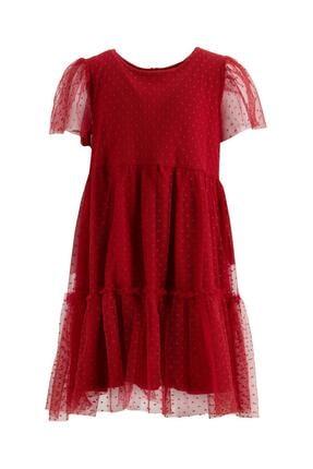 DeFacto Kız Çocuk Kısa Kol Tül Elbise