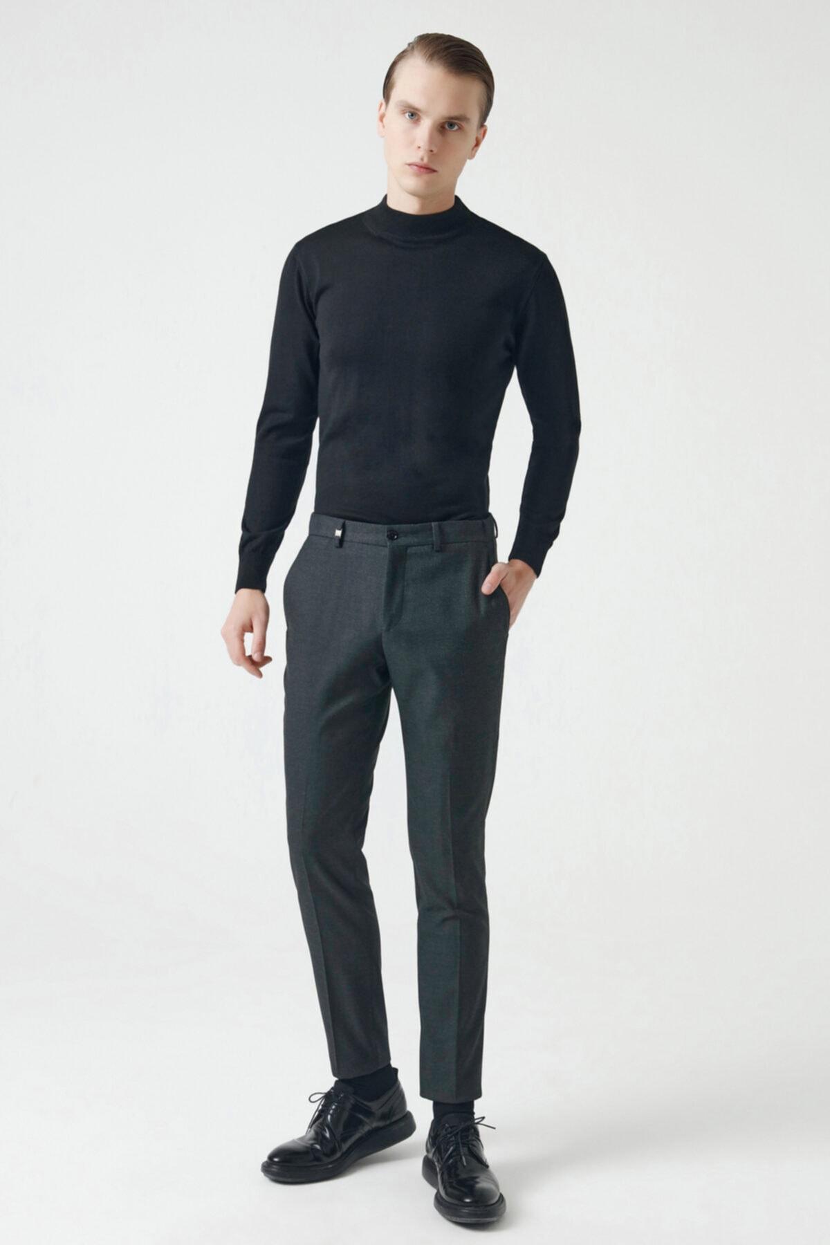 D'S Damat Tween Slim Fit Antrasit Kumaş Pantolon 1
