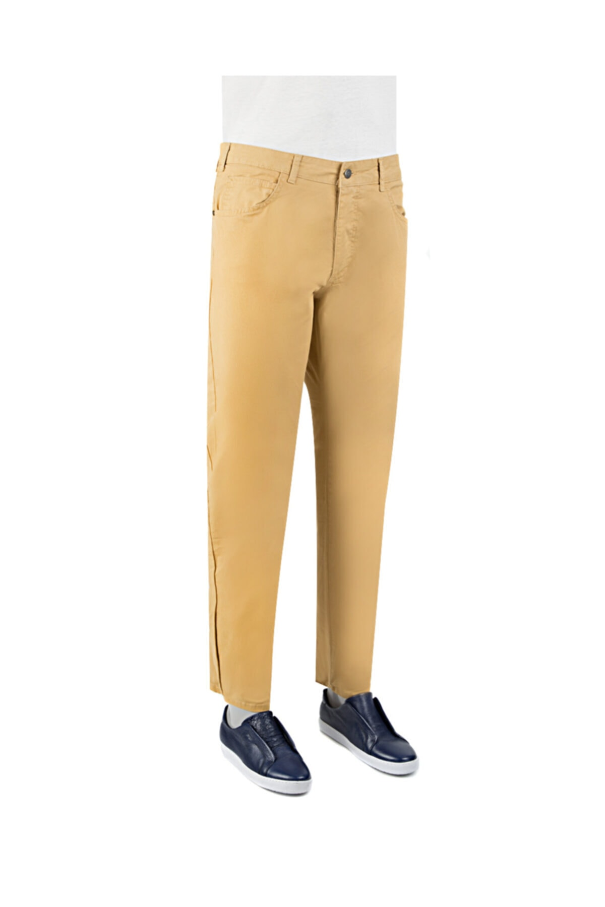 D'S Damat Slim Fit Hardal Chino Pantolon 1